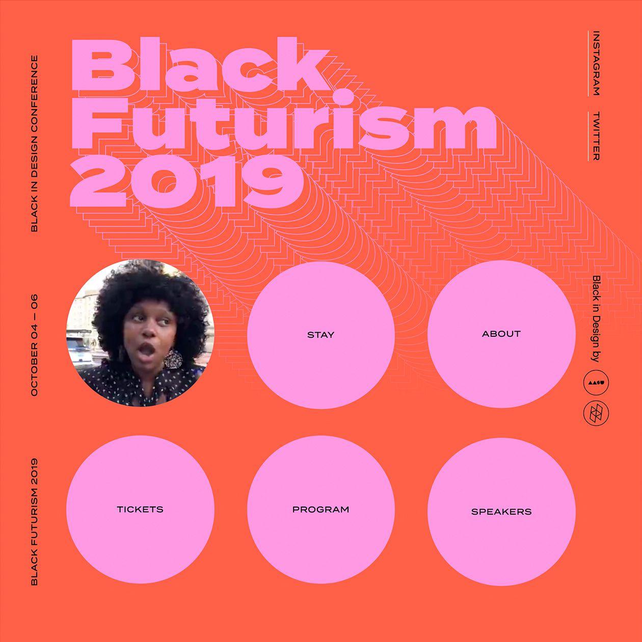 Black Futurism 2019 Typewolf Event Poster Conference Design Design