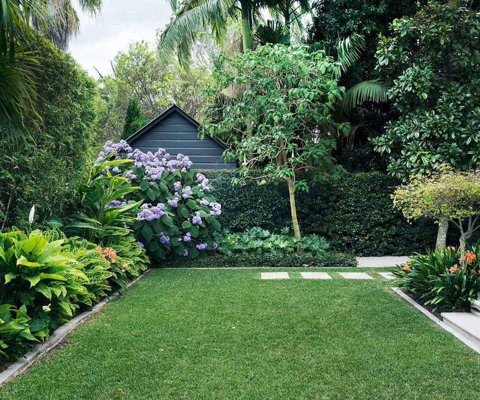 Photo of A backyard garden designed for outdoor living