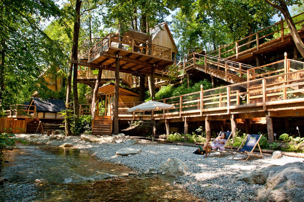 Charming Glamping Project Made By GLAMPro, Resort Garden Village Bled, Slovenia. One  Of Our Key Features That We Include In To Our Projects: NATURAL SWIMMINu2026