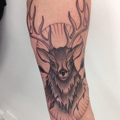 tattoobodyartnet 187 stag tattoo arm tattoos