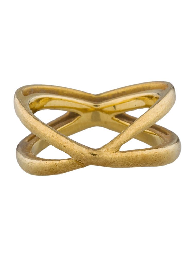 Tiffany & Co. Gold Crossover Ring - Jewelry - TIF24605 | The RealReal