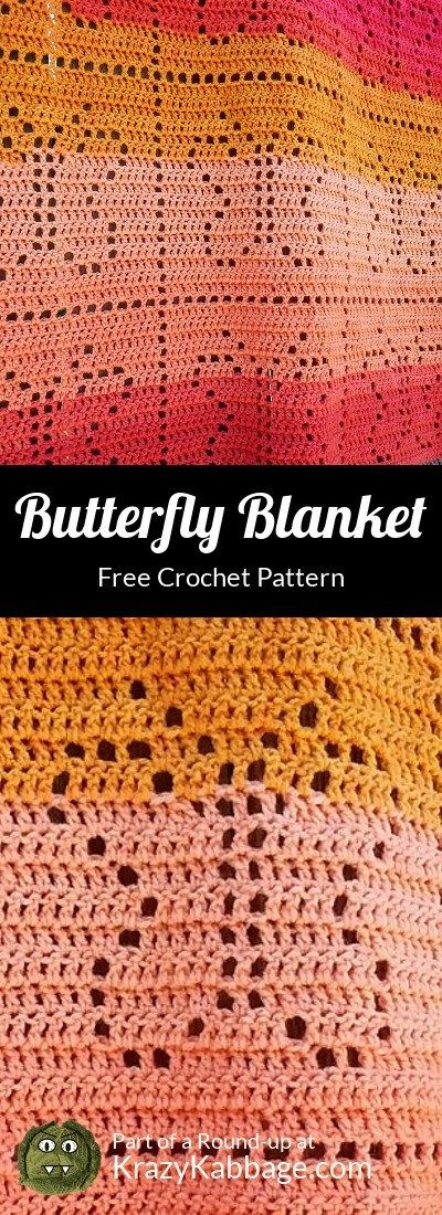 Beautiful Butterflies Free Crochet Patterns – Krazy Kabbage  #butterfly #sprin…