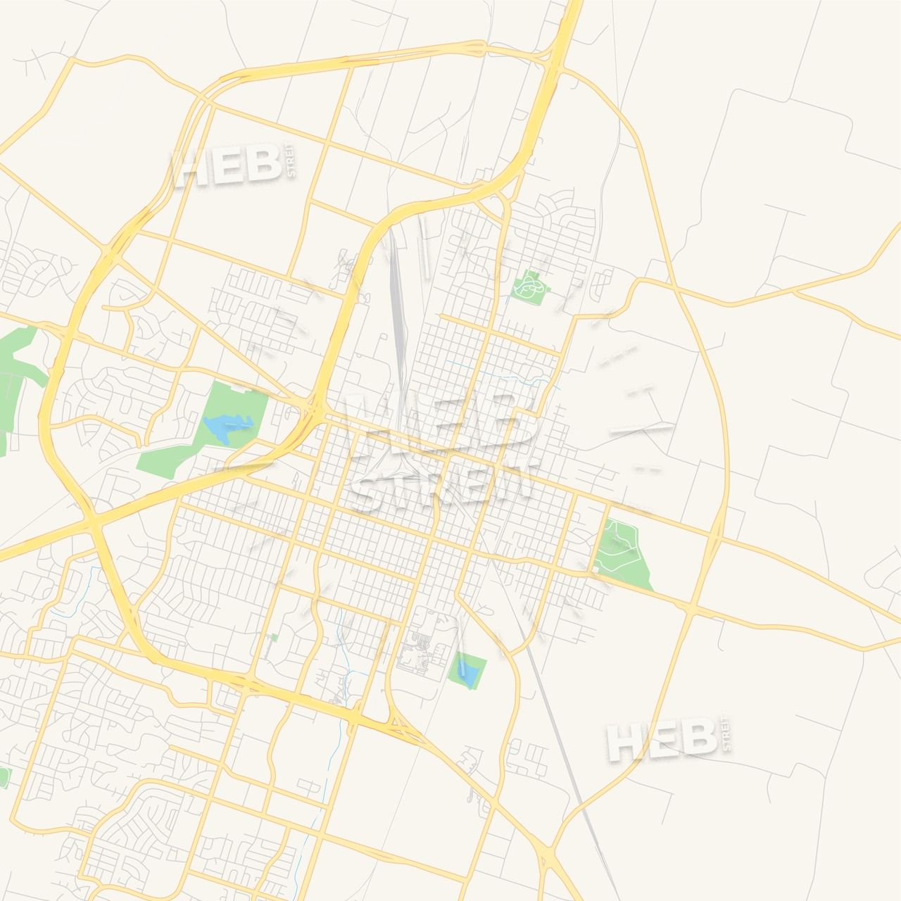 Empty Vector Map Of Temple Texas Usa Streit
