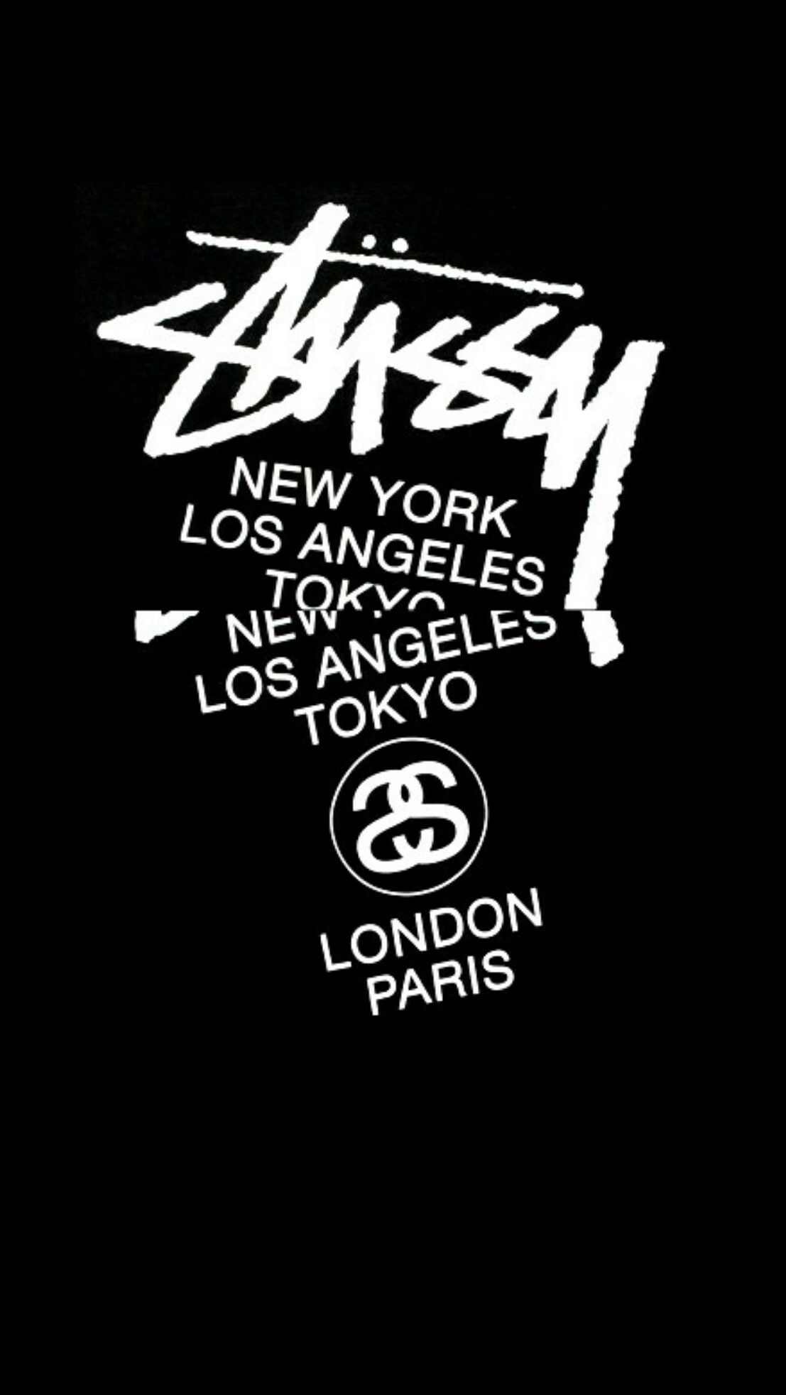 Stussy Black Wallpaper Android Iphone