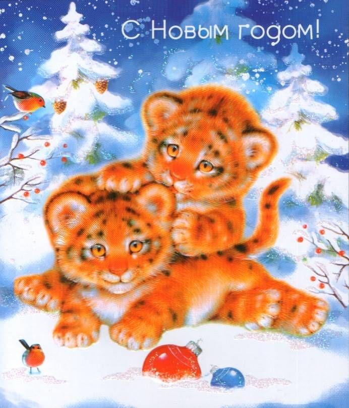 Дню, с годом тигра открытки