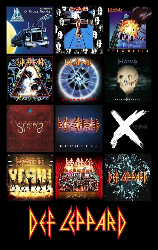 Def Leppard Album Cover Discography Magnet 3 X 4 5 Def Leppard Albums Def Leppard Wallpaper Def Leppard