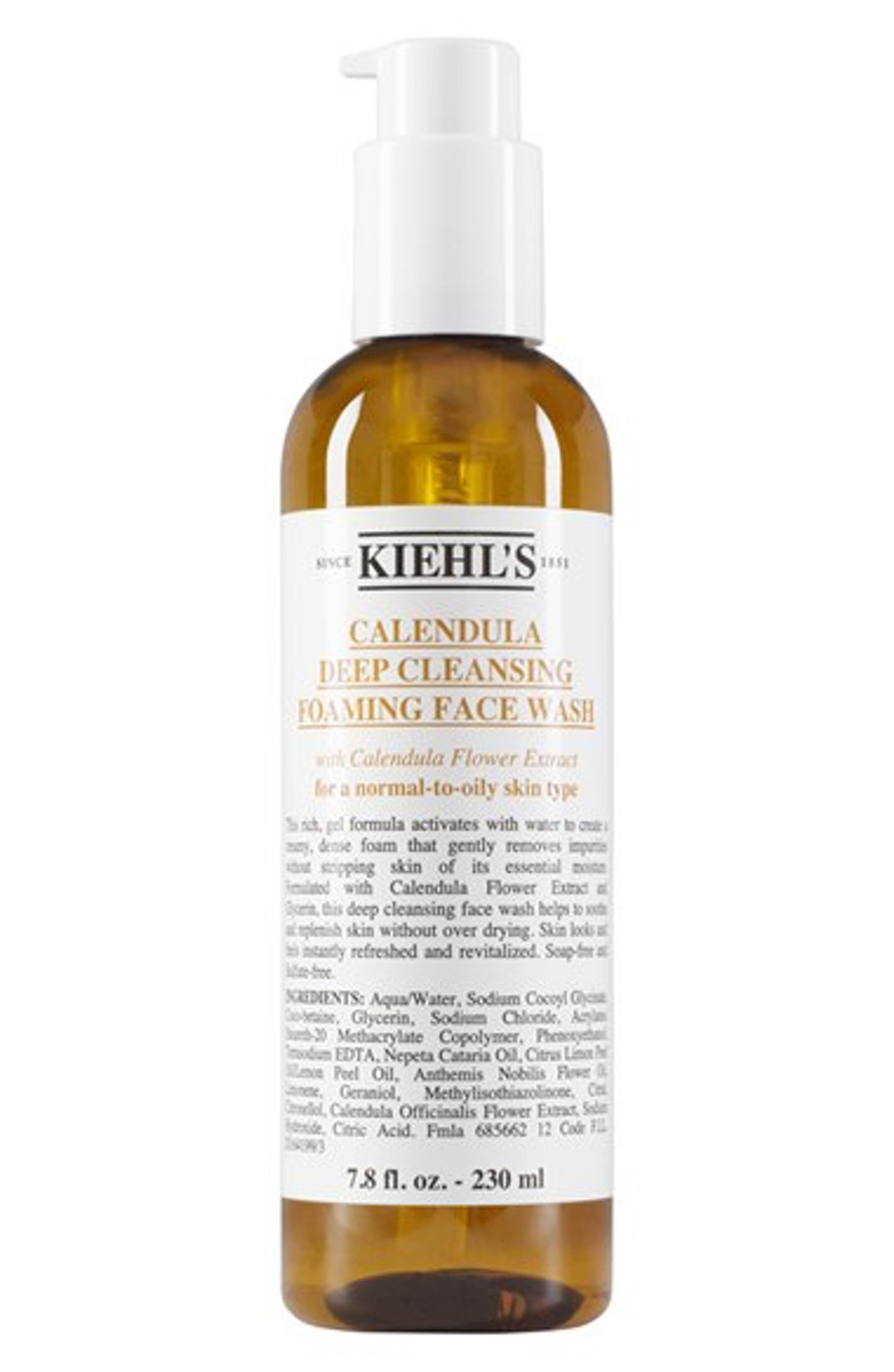 Kiehl S Since 1851 Calendula Deep Cleansing Foaming Face Wash For Normal To Oily Skin Nordstrom Foaming Face Wash Oily Skin Care Face Wash