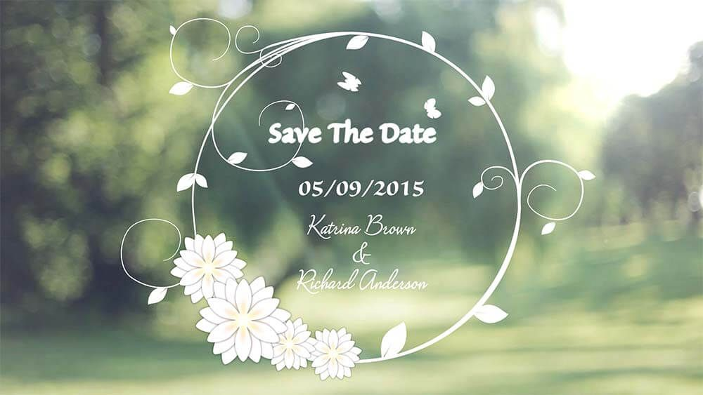 Green Love Save The Date Video Wedding Invitation Video Save The Date Video Create Wedding Invitations