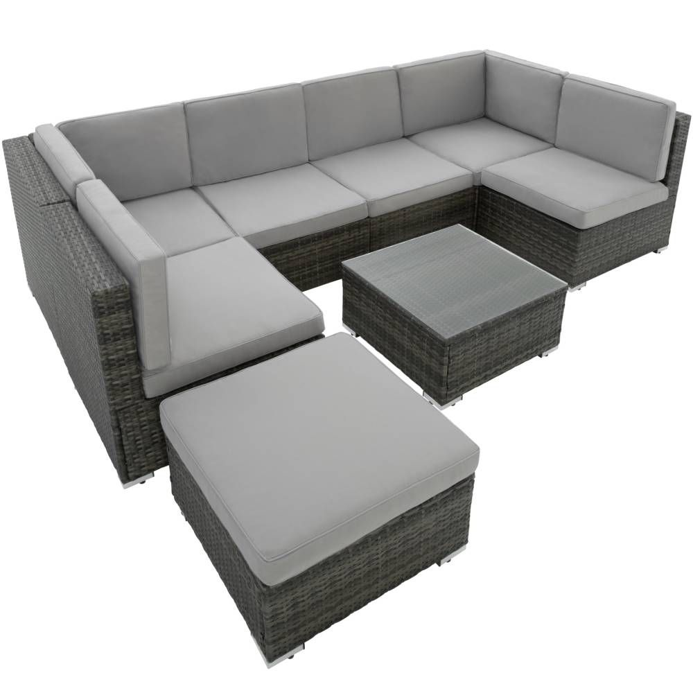 rattan lounge mit stahlgestell venedig we rattan tectake pinterest rattan und polyrattan. Black Bedroom Furniture Sets. Home Design Ideas