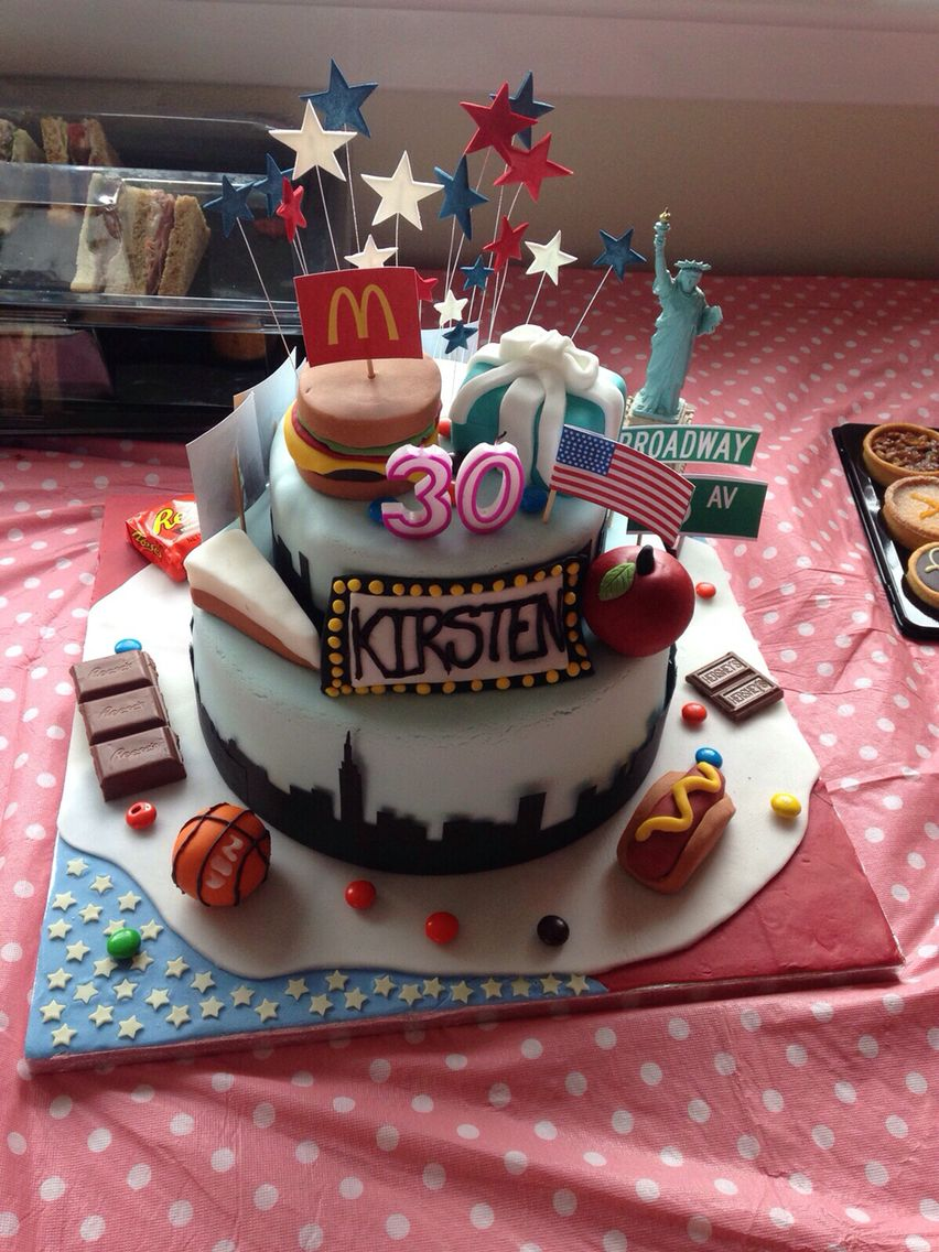 Remarkable New York Themed 30Th Birthday Cake New York Cake Birthday Cake Personalised Birthday Cards Paralily Jamesorg