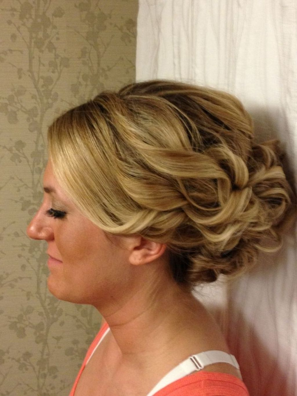 updo for long thick hair for homecoming or a wedding