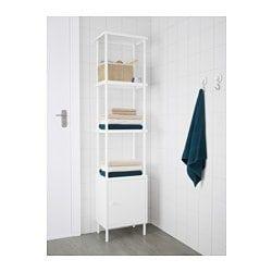 Dynan Colonne Blanc 40x27x174 Cm Ikea Dynan Idees Etageres Ikea