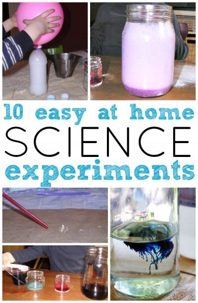 Cool science projects for kids at home.