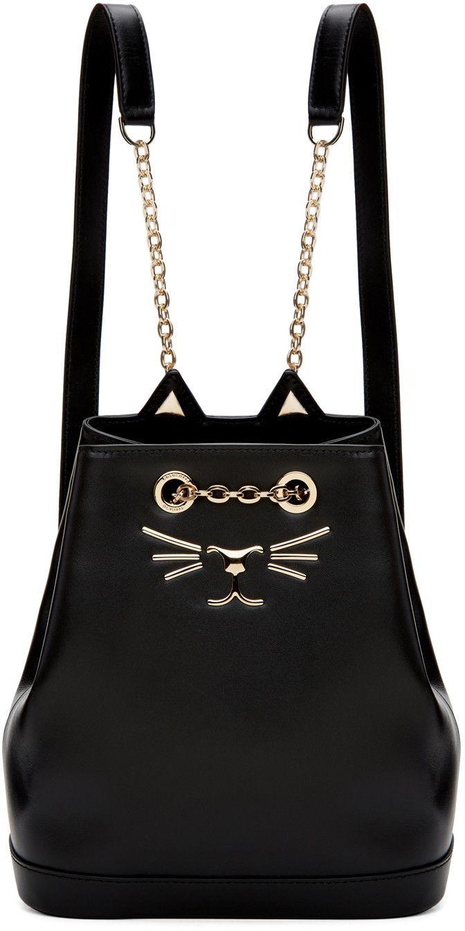 90518629acb6 Charlotte Olympia - Black Petite Feline Backpack