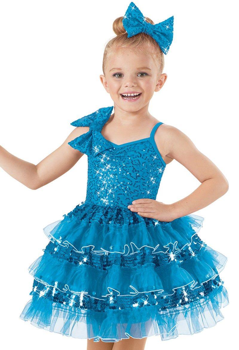 Weissman™   Sequin Layered Ruffle Party Dress   BALLERINA ...