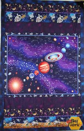 Solar System Fabric And Quilt Kit Via Bug Fabric Although