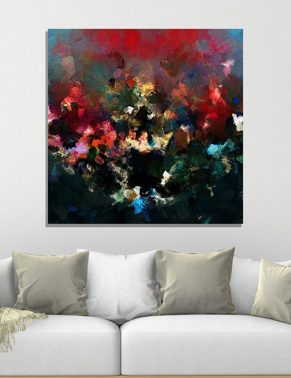 Surrealist Abstract Art, Abstract Wall Art, Abstract Print as Wall ...