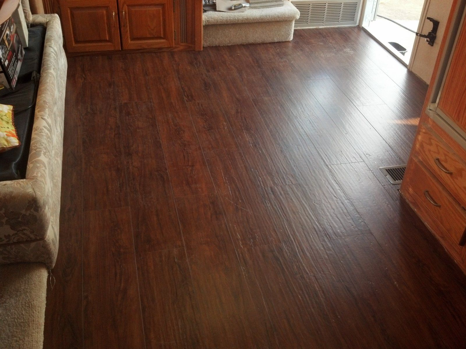 Is it hand scribbed hardwood no it 39 s vinyl this is for Allure flooring