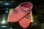 Sapatilhas em crochet