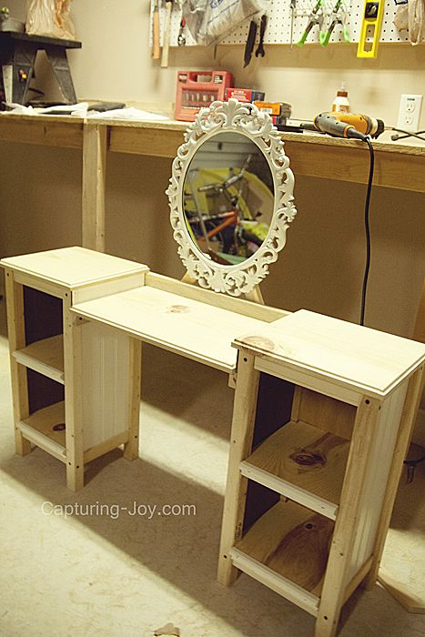 Little Girls Play Vanity Table Vanities DIY and crafts and