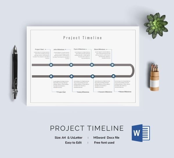 Project Scope \ Timeline prezentacja Pinterest Timeline - timeline template