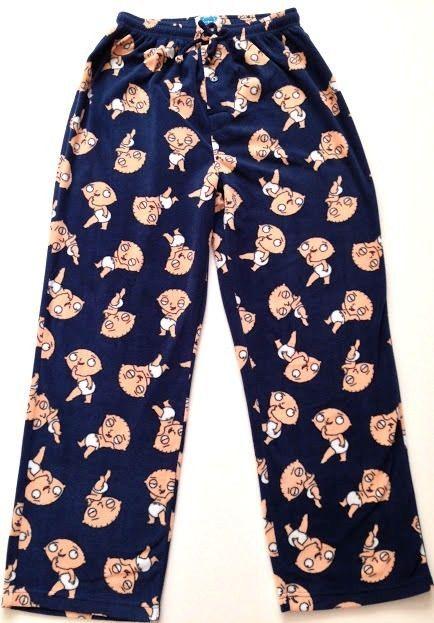 Family Guy Pajama Pants Medium Baby Stewie Fleece Sleepwear Lounge ...