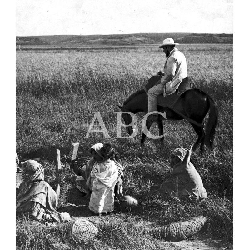 ESPAÑA EN MARRUECOS. - EL CÓNSUL DE LARACHE SR. ZUGASTI LLEGANDO A CABALLO AL CAMPAMENTO DE NADOR:1911 Descarga y compra fotografías históricas en | abcfoto.abc.es