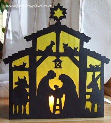Varázspor Betlehemes világító kép Karácsony Pinterest Cards