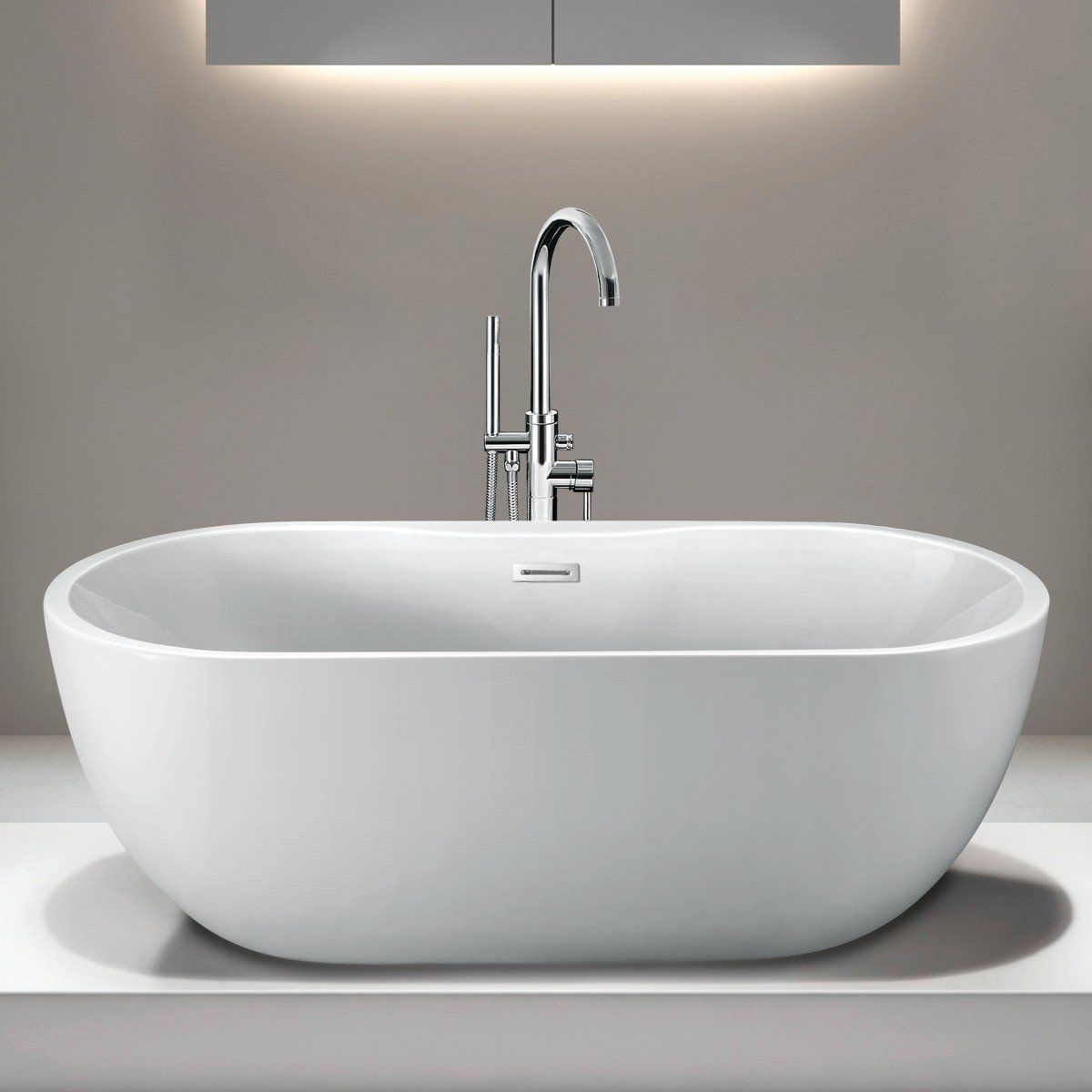 54 inch freestanding tub. Randolph Morris 55 Inch Acrylic Double Ended Freestanding Tub  No Faucet Drillings