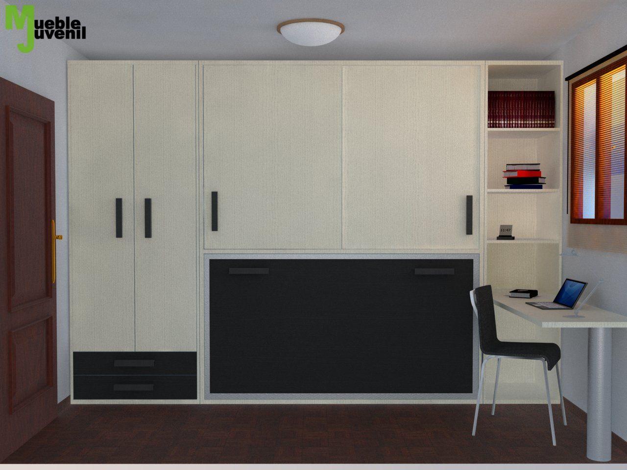Diseo De Habitacion Juvenil Dormitorio Juvenil Moderno Diseo De  # Muebles Juveniles Kuu