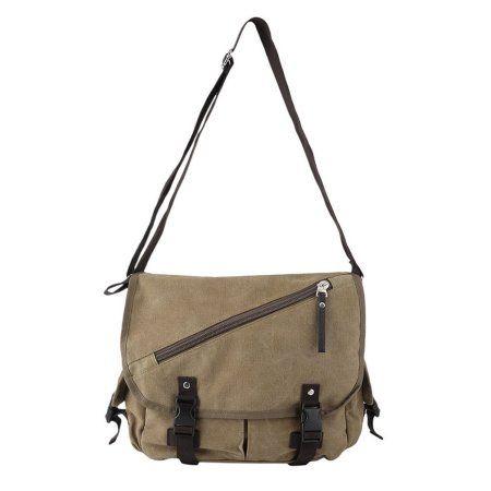 Men Vintage Casual Travel Satchel Canvas Crossbody School Messenger Shoulder Bag