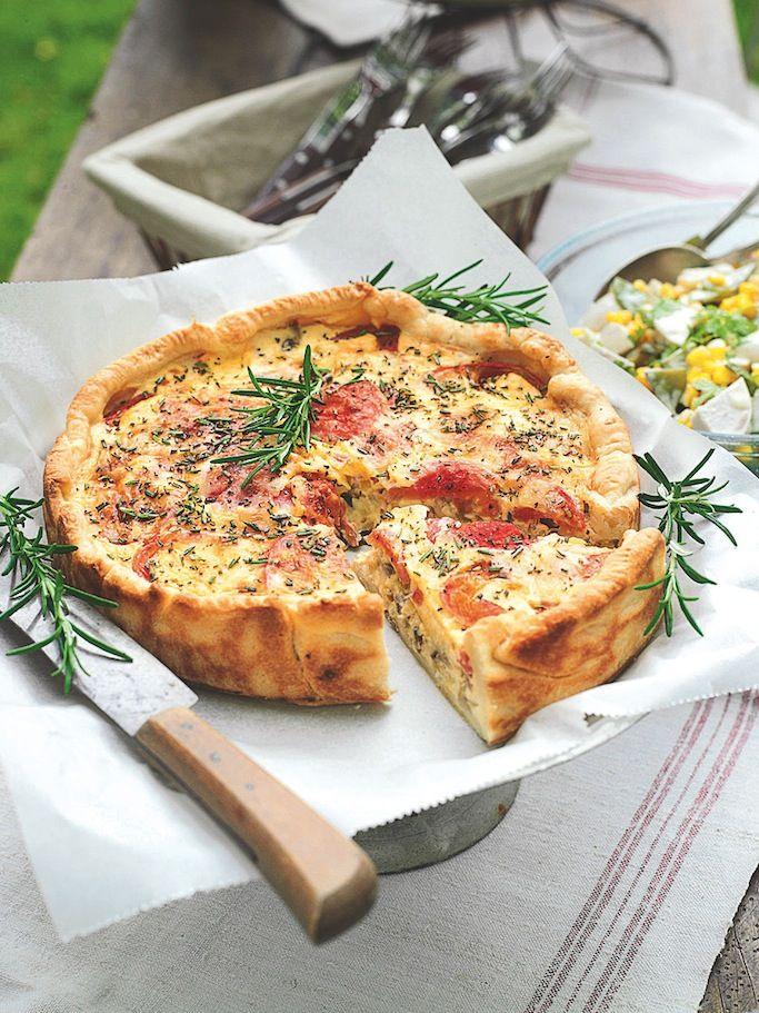 Quiche aux poireaux, champignons et tomates cerise (avec images) | Quiche poireaux, Recette ...