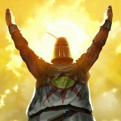 """""""Eu sou Solaire of Astora, um subordinado do Lord of Sunlight. Agora que sou Undead, vim a esta maravilhosa terra, terra-natal do Lord Gwyn, para procurar o meu próprio sol"""