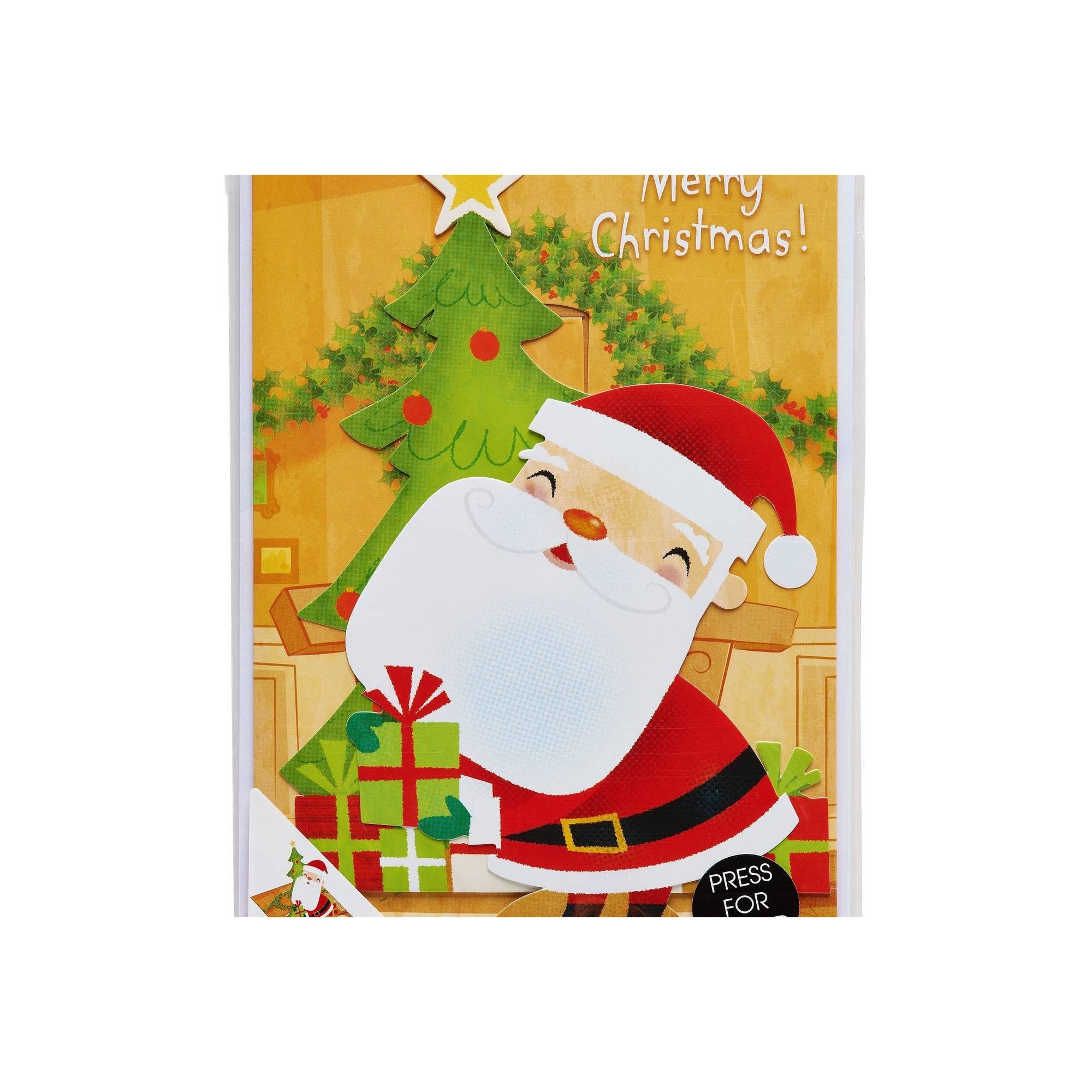 Santa Claus Christmas Greeting Card with Music, Adult