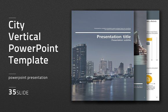 City vertical powerpoint template by good pello on creativemarket city vertical powerpoint template by good pello on creativemarket toneelgroepblik Images