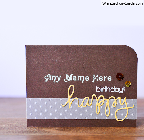 Free Printable Birthday Cards For Men With Name Hbd Wishes