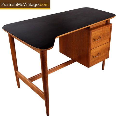 Mid Century Modern Dania Desk Mid Century Modern Desk Midcentury Modern Mid Century Desk
