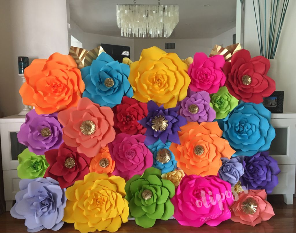 Spring Girls Bedroom Bright colors Paper flowers Baby shower, Backdrop Mexican theme Summer Birthday Decor Fiesta Theme Room Decor