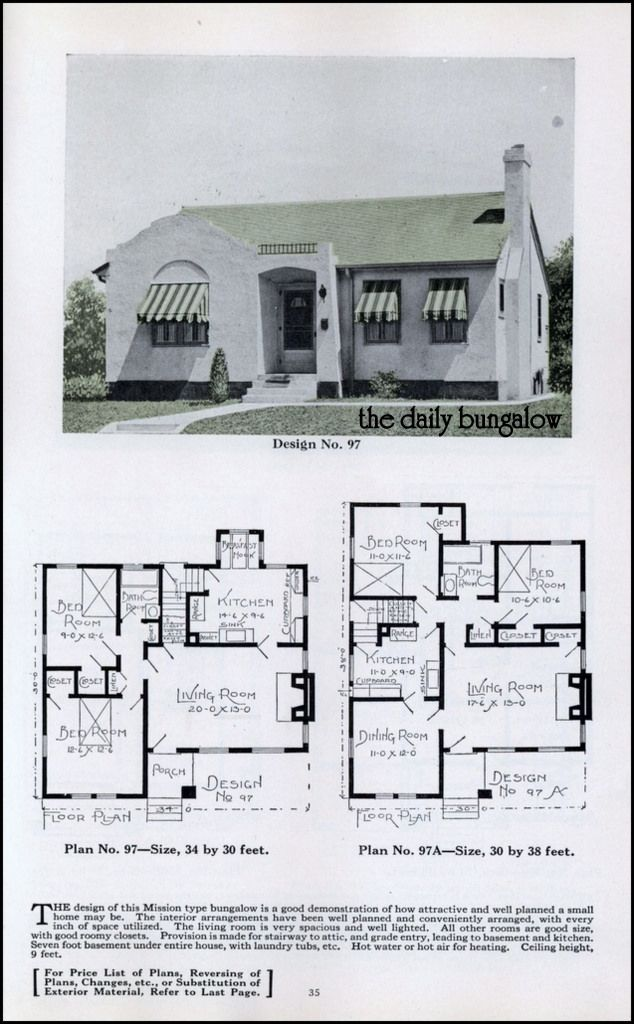 Bungalow House Plans Bungalow House Plans House Plans Vintage House Plans