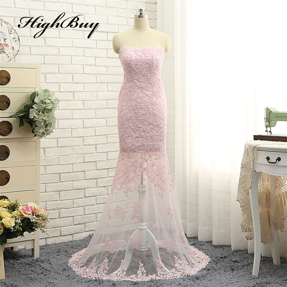 Click to buy ucuc highbuy vestidos de festa bling bling pink lace