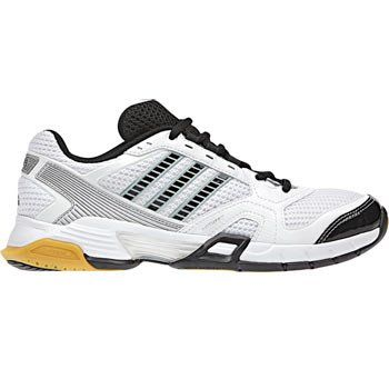 adidas Women's Opticourt VB 8.5 Volleyball Shoe,Running  White/Black/Metallic Silver,