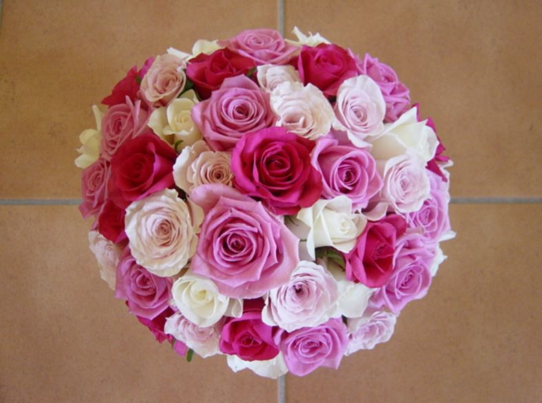 Red Pink And White Roses Wedding Bride Bouquets | Bridal Bouquets ...