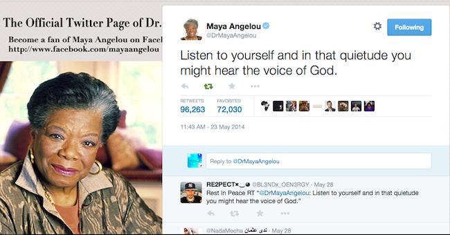 Maya Angelou's last tweet