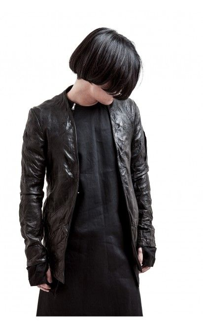Chaos From Undermind - Wrinkled Leather Jacket  | unconventional