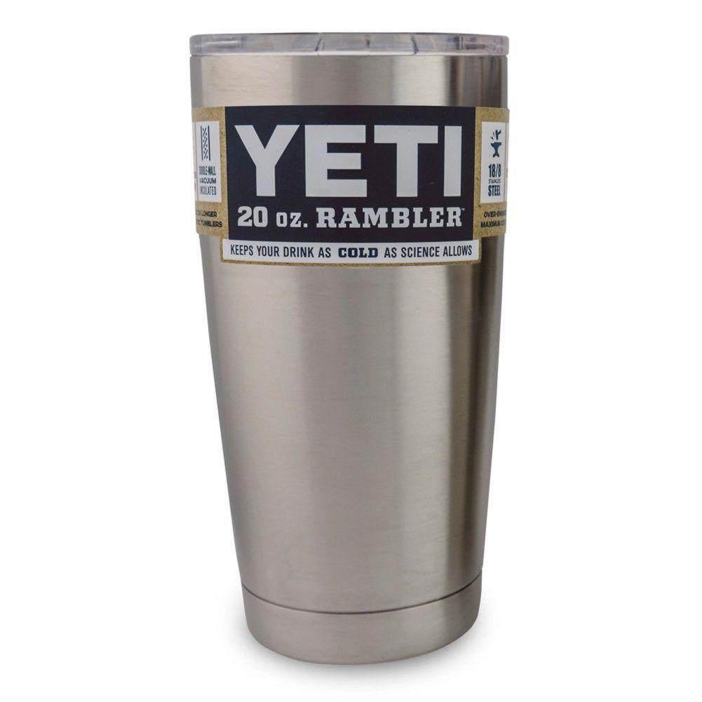 Yeti Coolers Rambler Tumbler, Silver, 20 oz, one size