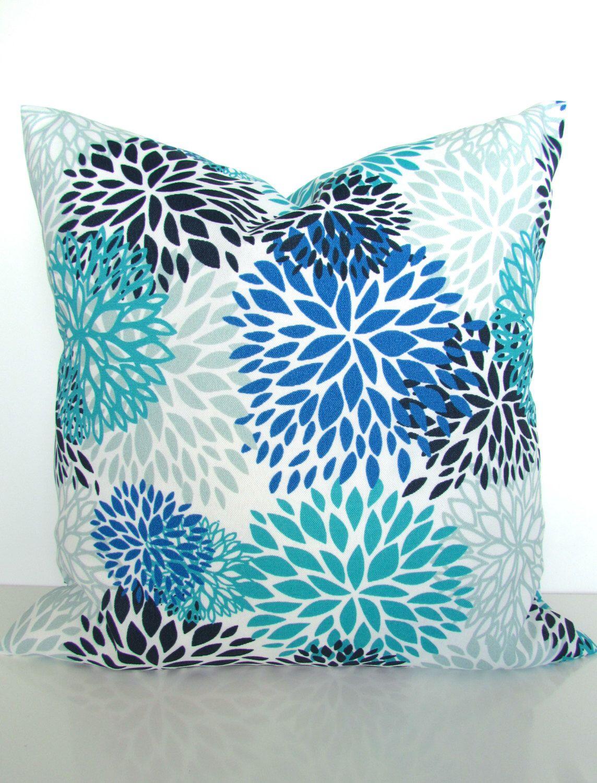 Royal BLUE PILLOWS Blue Outdoor Pillow Covers Turquoise Outdoor Throw  Pillows Navy Blue Aqua Gray Outdoor