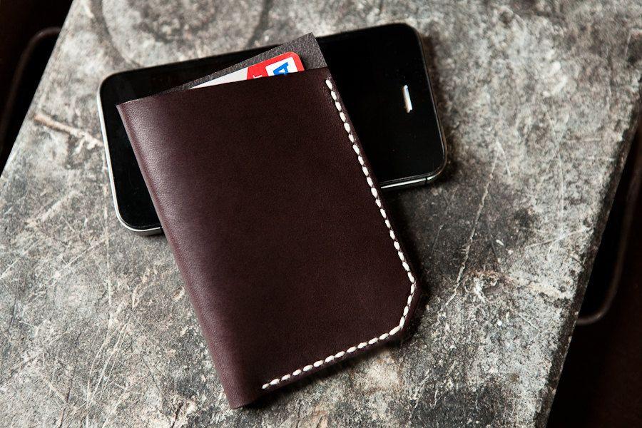 Savin Wallet in Walnut. $65.00, via Etsy.