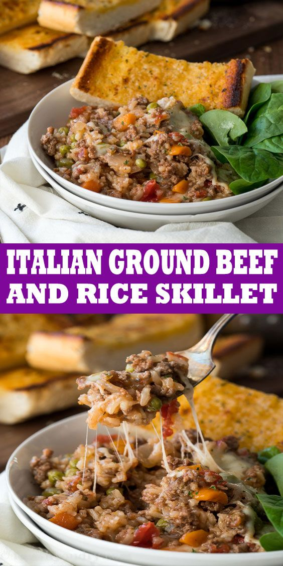 Italian Ground Beef And Rice Skillet In 2020 Beef Recipes Easy Crockpot Recipes Beef Stew Slow Cooker Recipes Beef Stew