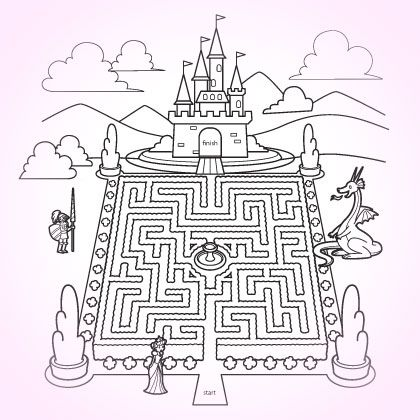 Coloring Pages for Kids | Jordi, Laberintos y Edad media
