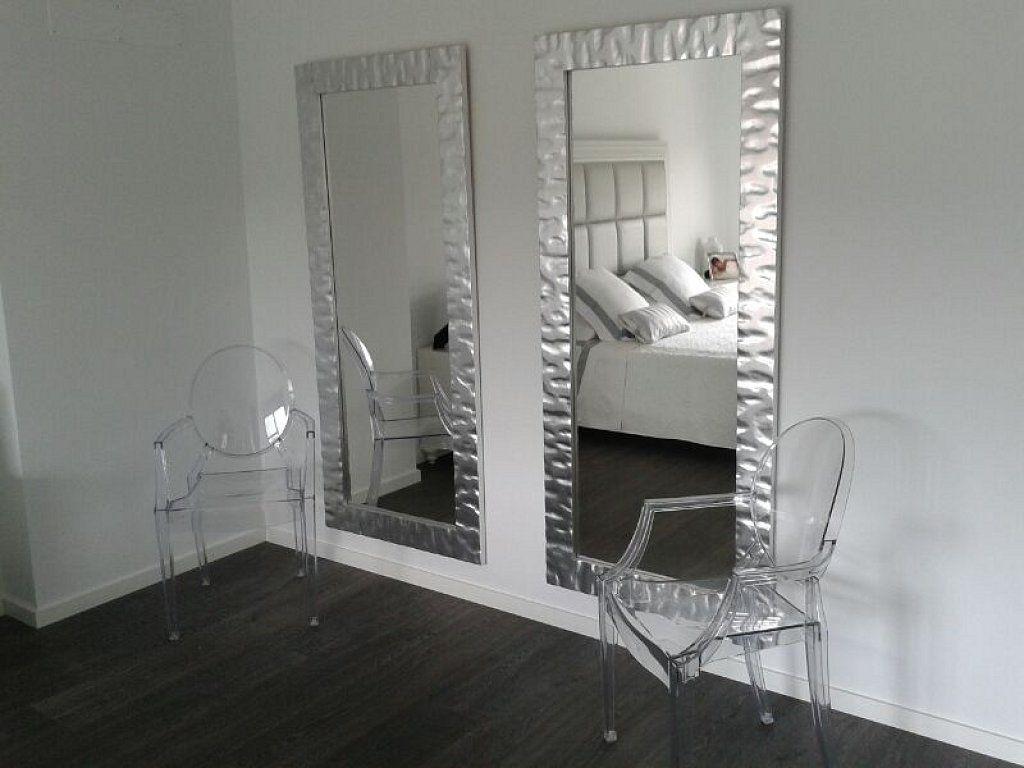 Espejos modernos para sala buscar con google hogar - Espejos con marco plateado ...
